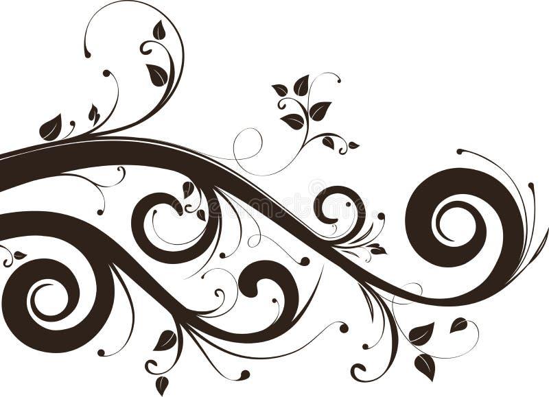 Fondo floral abstracto ilustración del vector