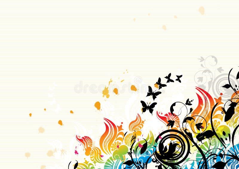 Fondo floral abstracto stock de ilustración
