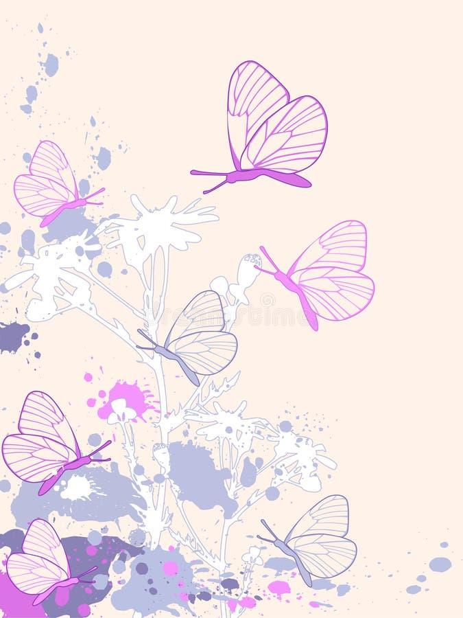 Fondo floral abstracto coloreado ilustración del vector