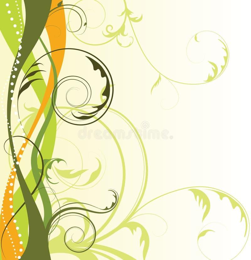Fondo floral abstracto con el espacio libre su te stock de ilustración