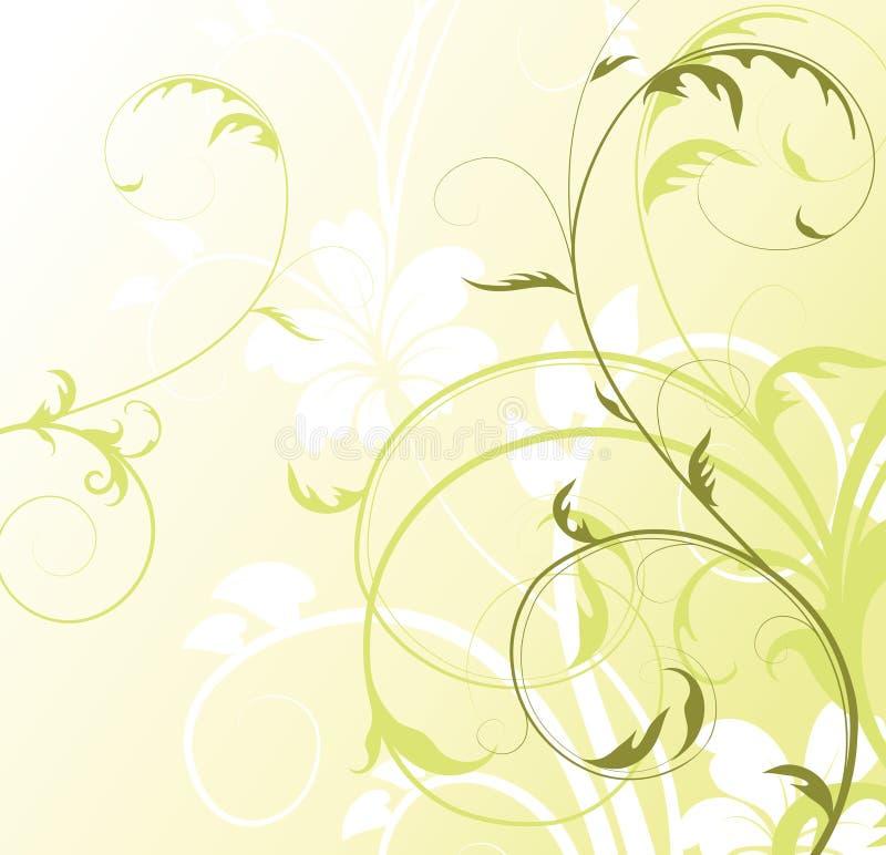 Fondo floral abstracto con el espacio libre su te libre illustration