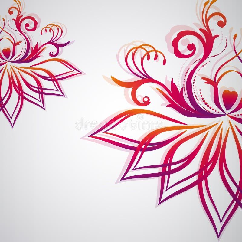 Fondo floral abstracto con las flores orientales. stock de ilustración