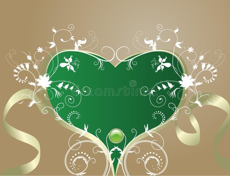Fondo floral abstracto. Corazón-dimensión de una variable artística ilustración del vector