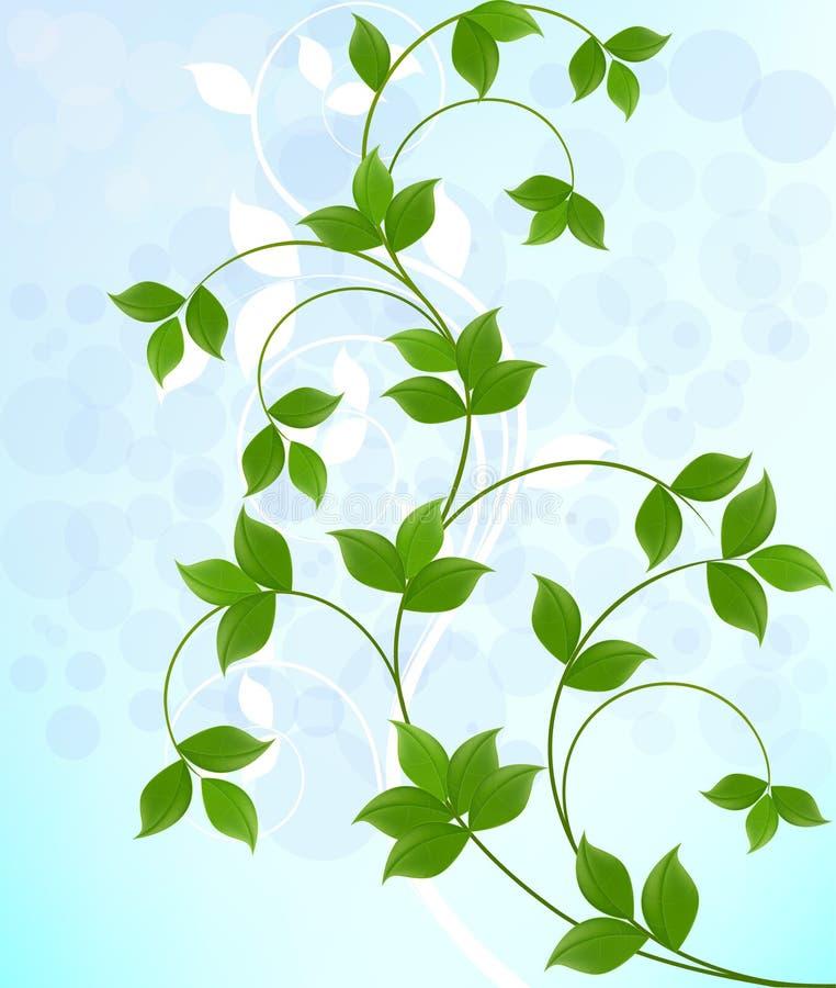 Fondo floral abstracto de la ecología stock de ilustración