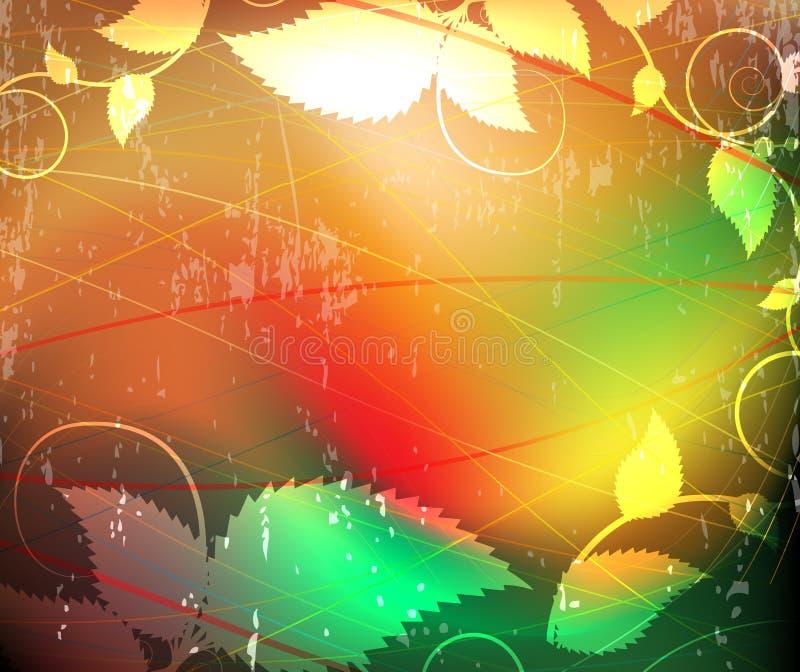 Fondo floral abstracto rasguñado libre illustration
