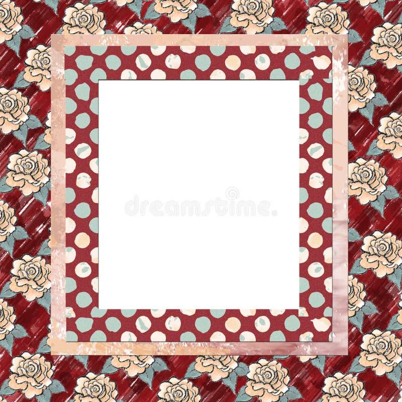 Fondo floral acodado del marco stock de ilustración