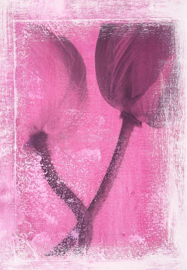 Fondo floral artístico stock de ilustración