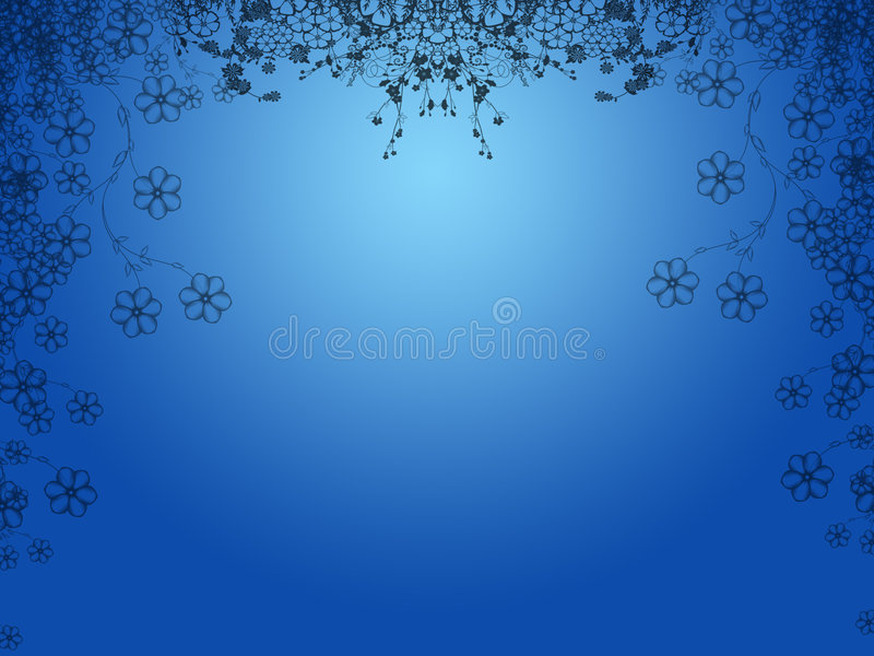 Fondo floral azul libre illustration