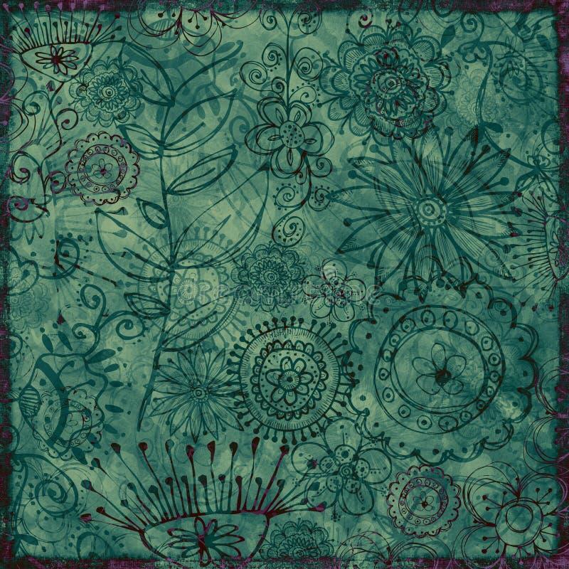 Fondo floral bohemio ilustración del vector
