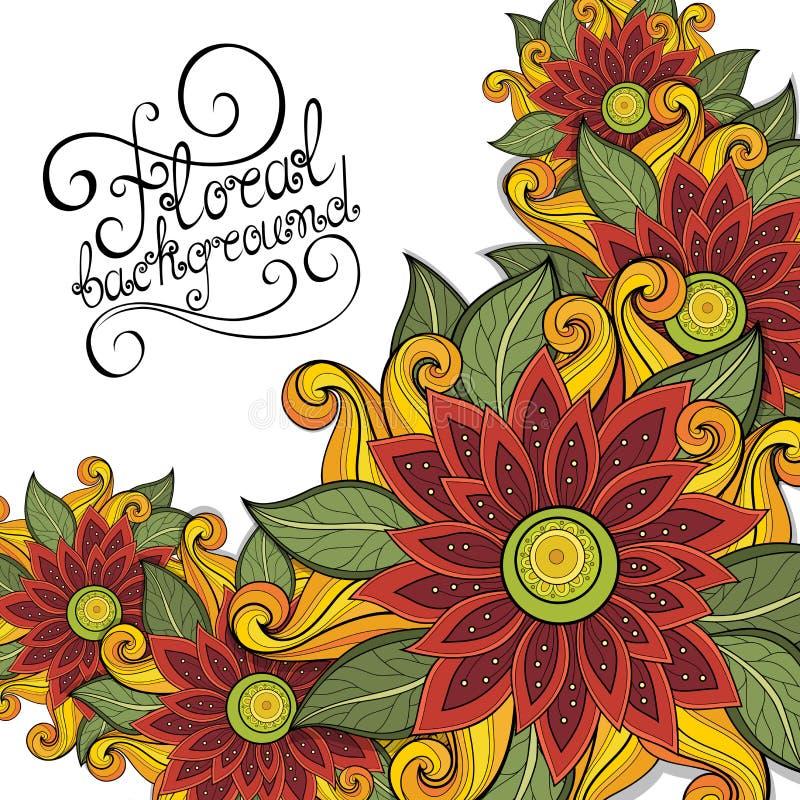 Fondo floral coloreado vector libre illustration