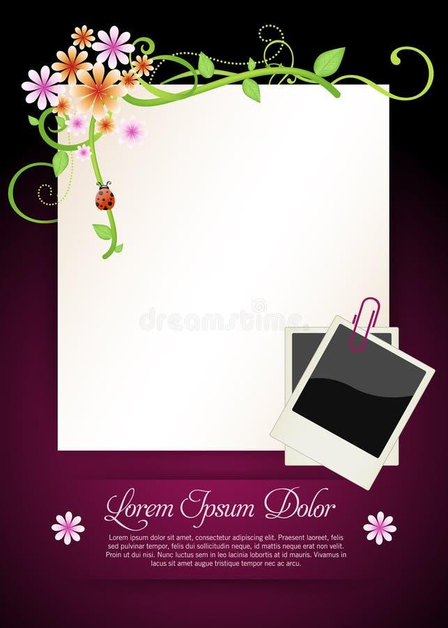 Fondo floral colorido ilustración del vector