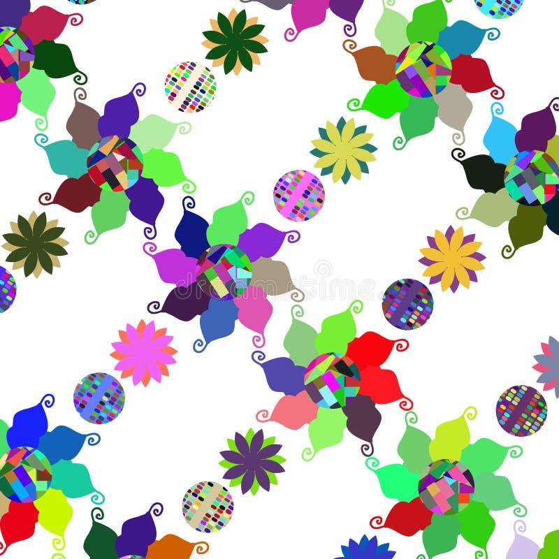Fondo floral colorido simple abstracto, imagen para el DES libre illustration