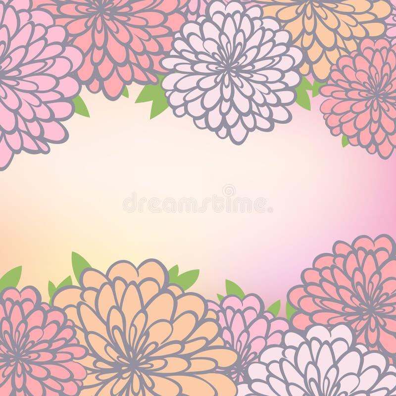 Download Fondo Floral Con El Crisantemo Ilustración del Vector - Ilustración de cubo, enhorabuena: 41921808