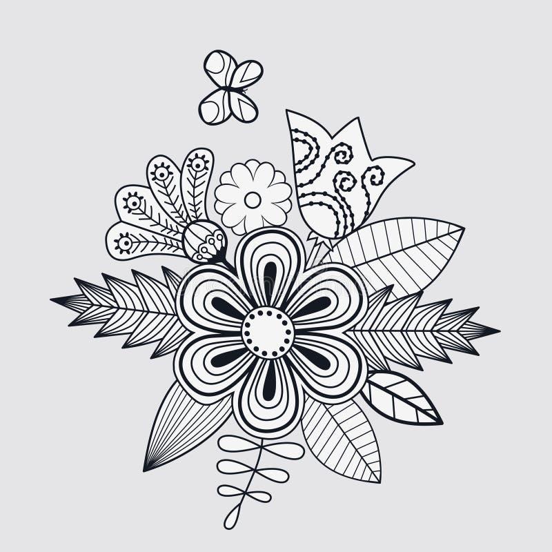 Fondo floral con el lugar para su texto ilustración del vector