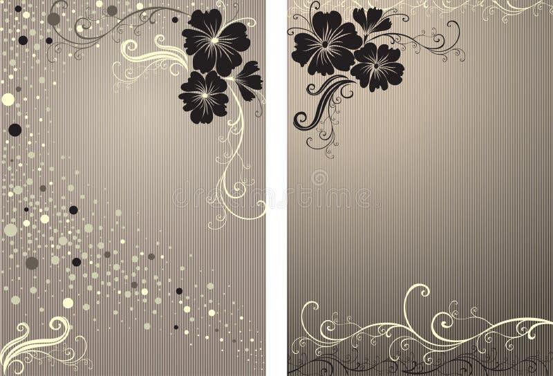 Fondo floral con estilo de la vendimia del vector stock de ilustración