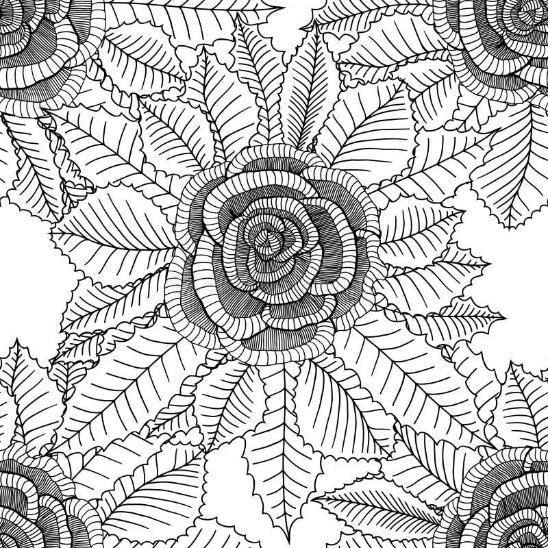 Fondo floral con las rosas stock de ilustración