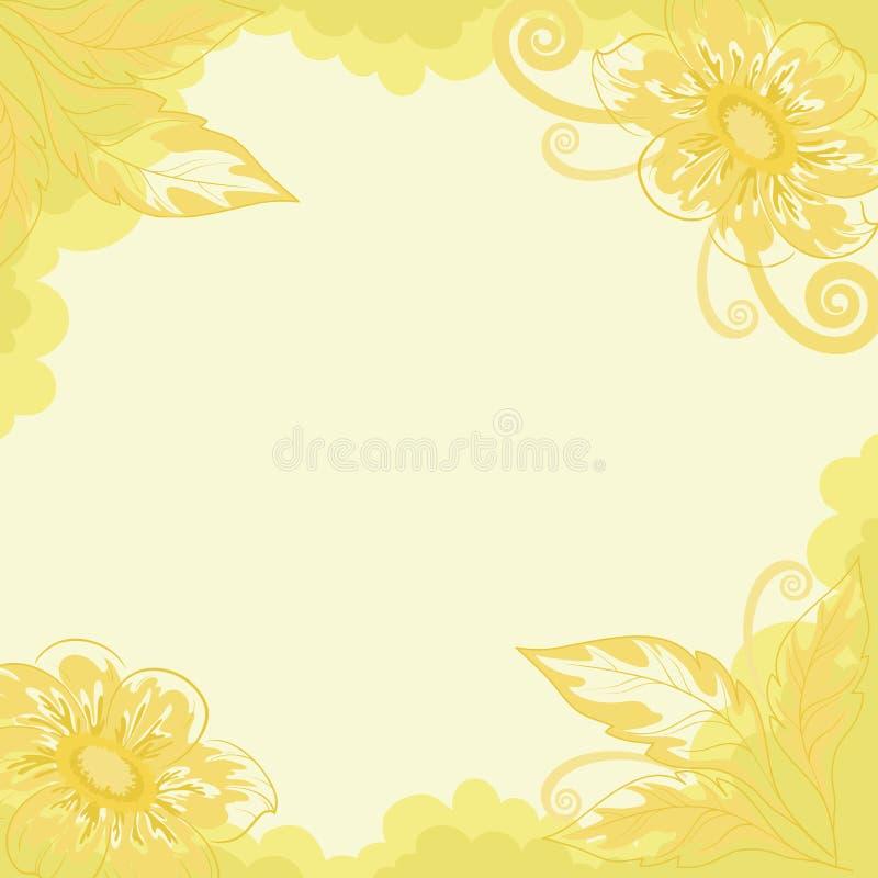 Fondo floral, dalia ilustración del vector