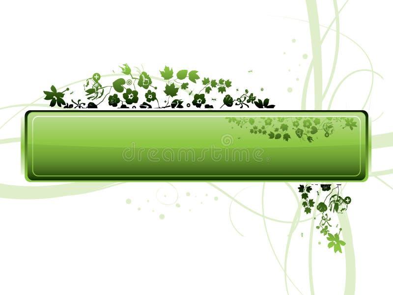 Fondo floral de Grunge stock de ilustración