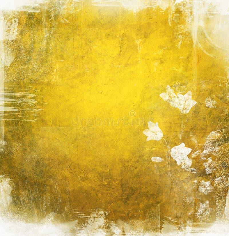 Fondo floral de Grunge con el espacio para el texto stock de ilustración