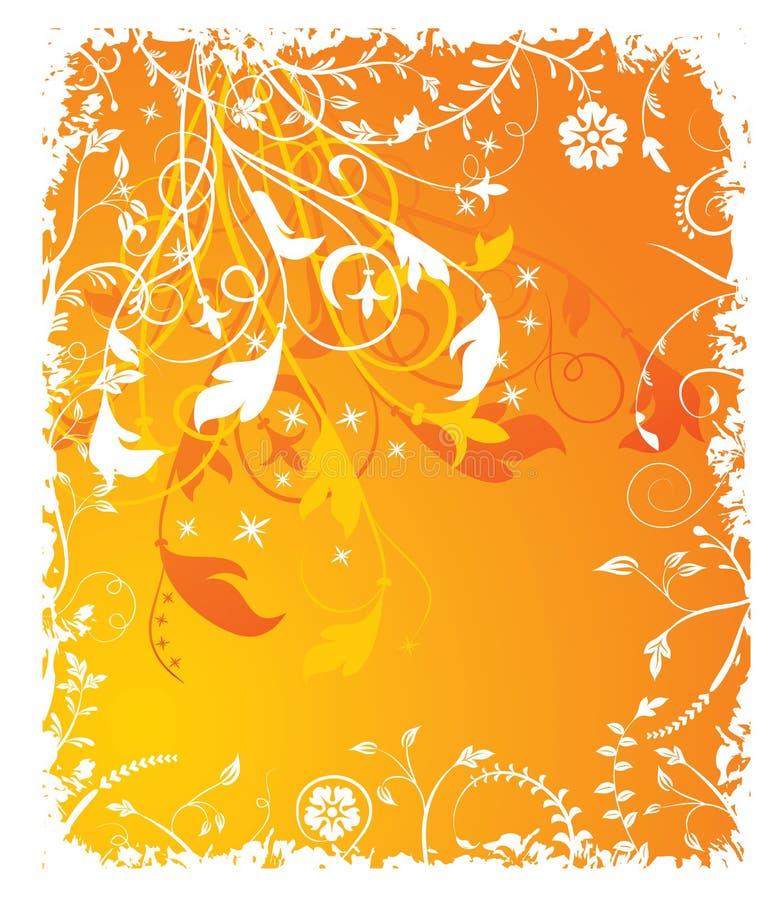 Download Fondo Floral De Grunge, Elementos Para El Diseño, Vector Ilustración del Vector - Ilustración de fondo, hojas: 1289528