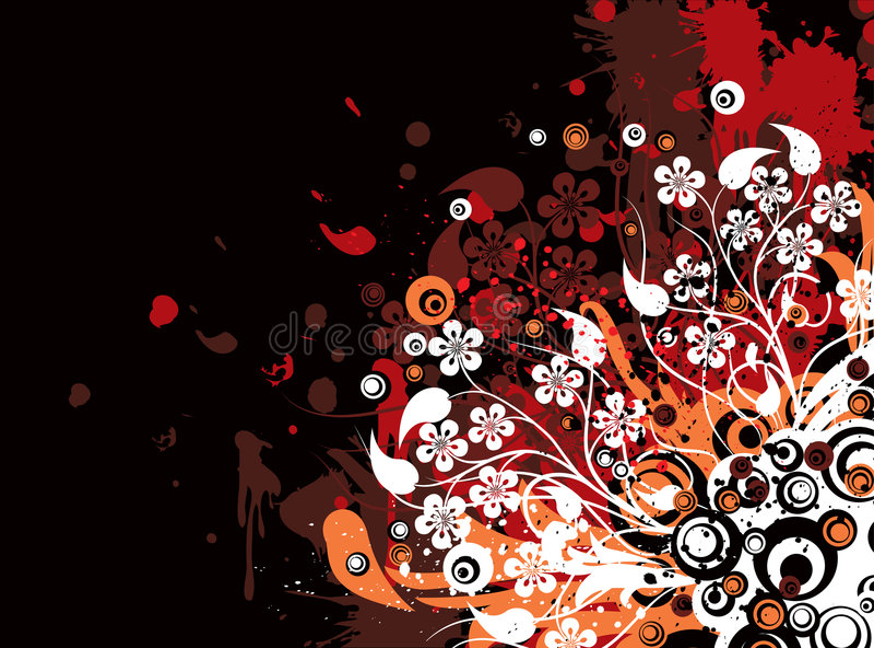 Fondo floral de Grunge, vector libre illustration