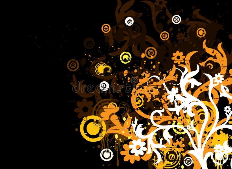 Fondo floral de Grunge, vector stock de ilustración