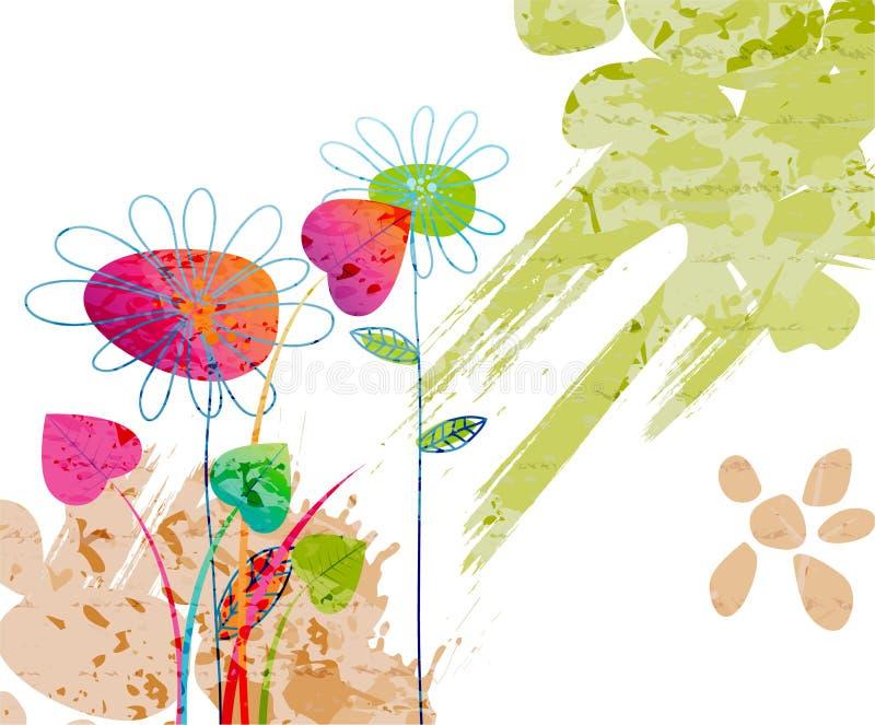 Fondo floral de la acuarela ilustración del vector