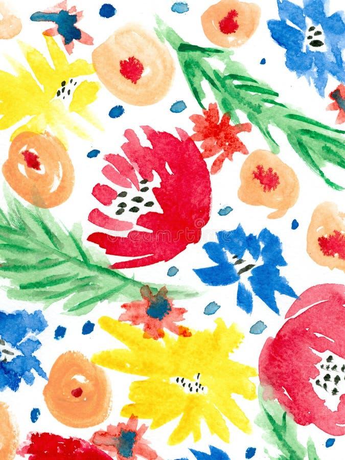 Fondo floral de la acuarela fotografía de archivo libre de regalías