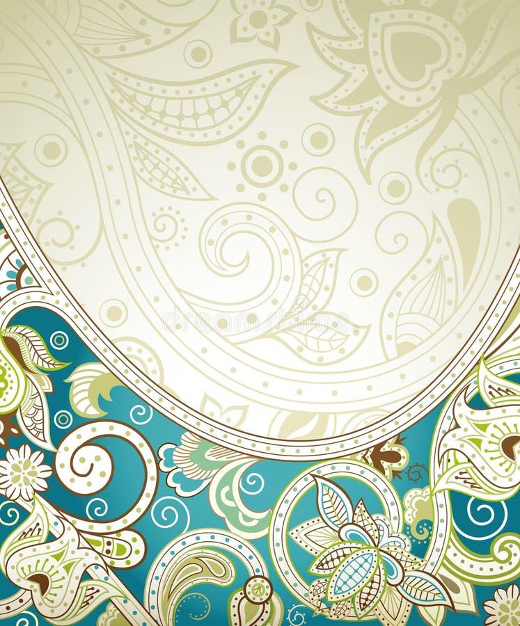 Fondo floral de la turquesa abstracta ilustración del vector