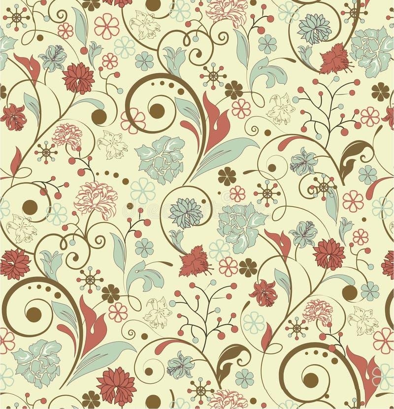 Fondo floral de la vendimia stock de ilustración