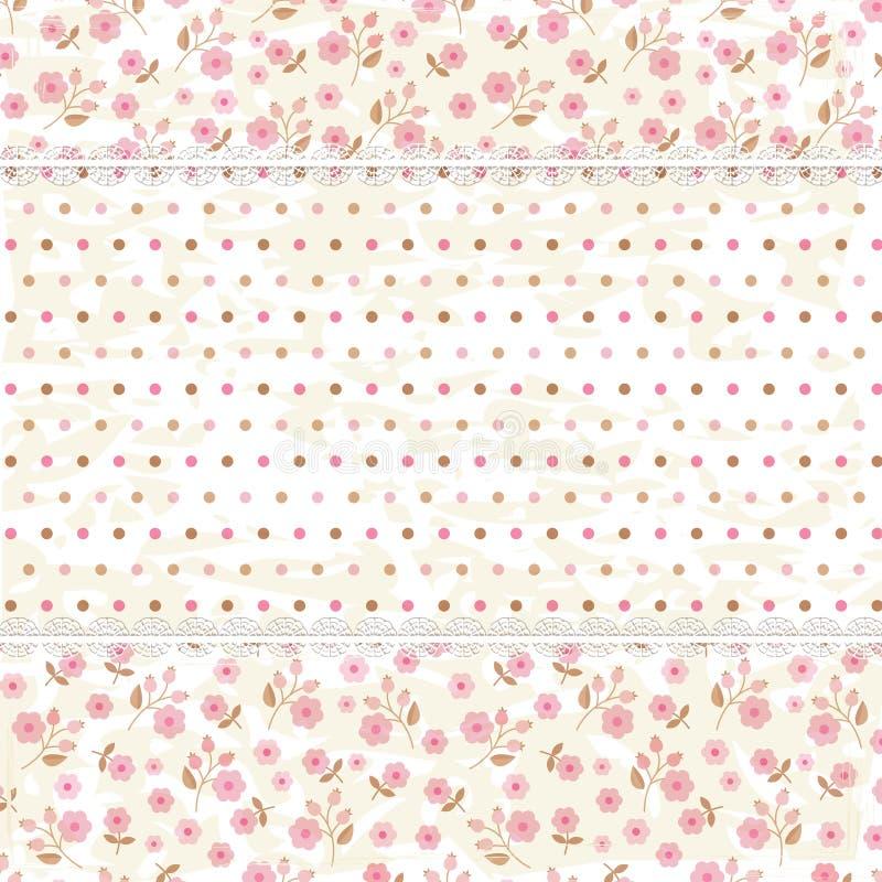Fondo floral de la vendimia ilustración del vector