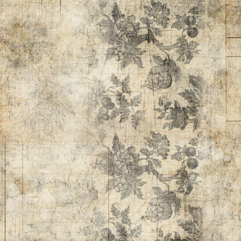 Fondo floral de la vendimia antigua sucia fotos de archivo