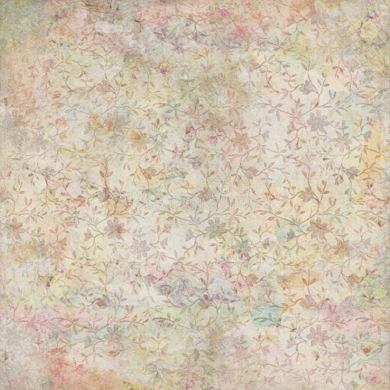 Fondo floral de la vendimia antigua sucia foto de archivo libre de regalías
