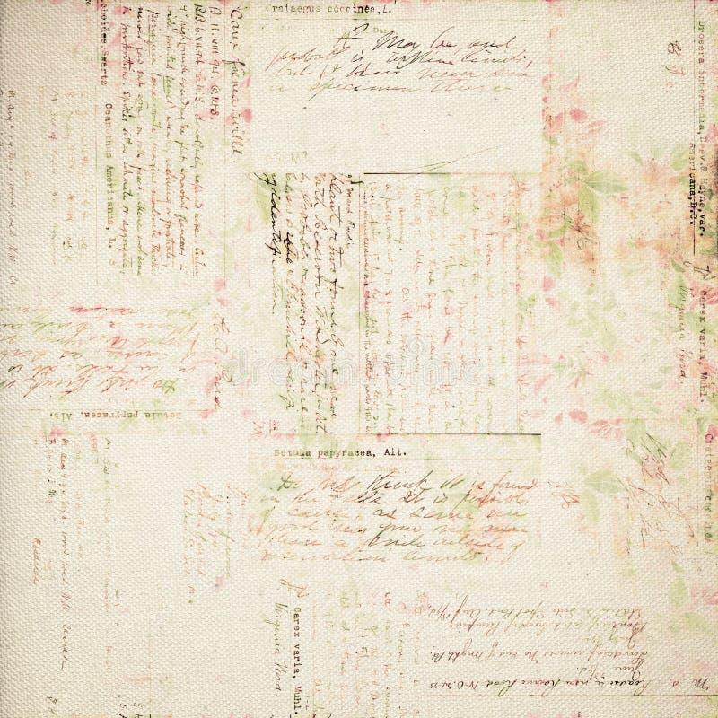 Fondo floral de la vendimia antigua sucia foto de archivo