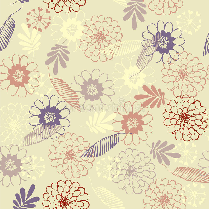 Fondo floral de la vendimia del arte ilustración del vector