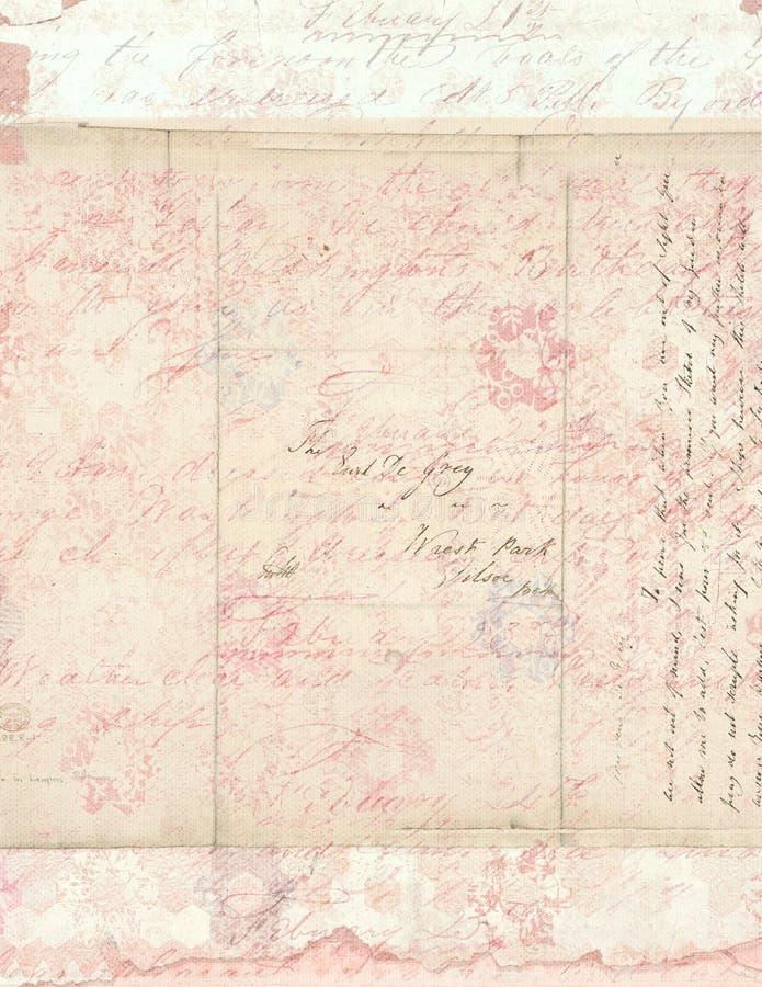 Fondo floral de la vendimia elegante lamentable con la escritura foto de archivo libre de regalías