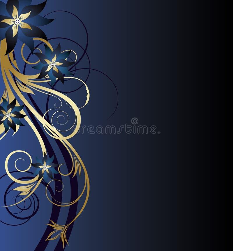 Fondo floral de oro stock de ilustración