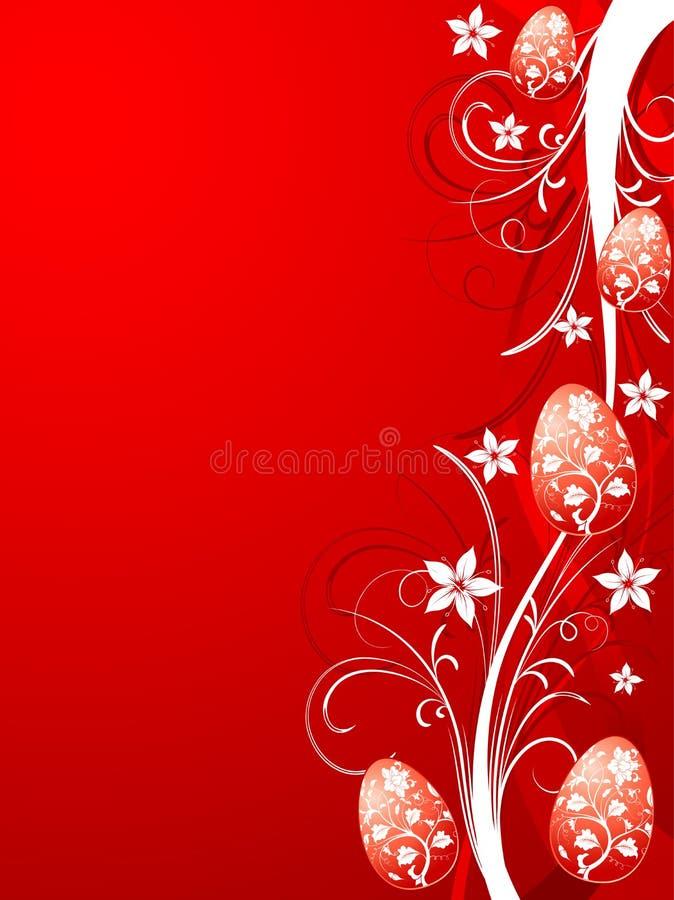 Fondo floral de Pascua stock de ilustración