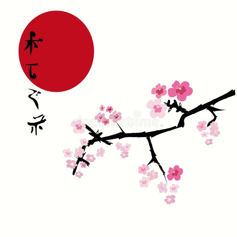 Fondo floral de Sakura (flor de cereza) ilustración del vector