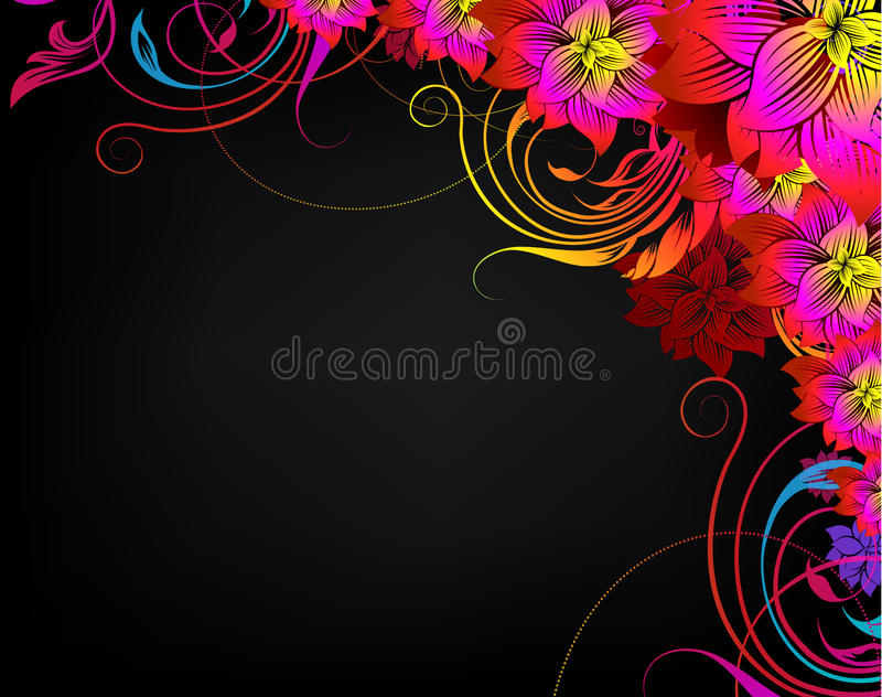 Fondo floral decorativo libre illustration