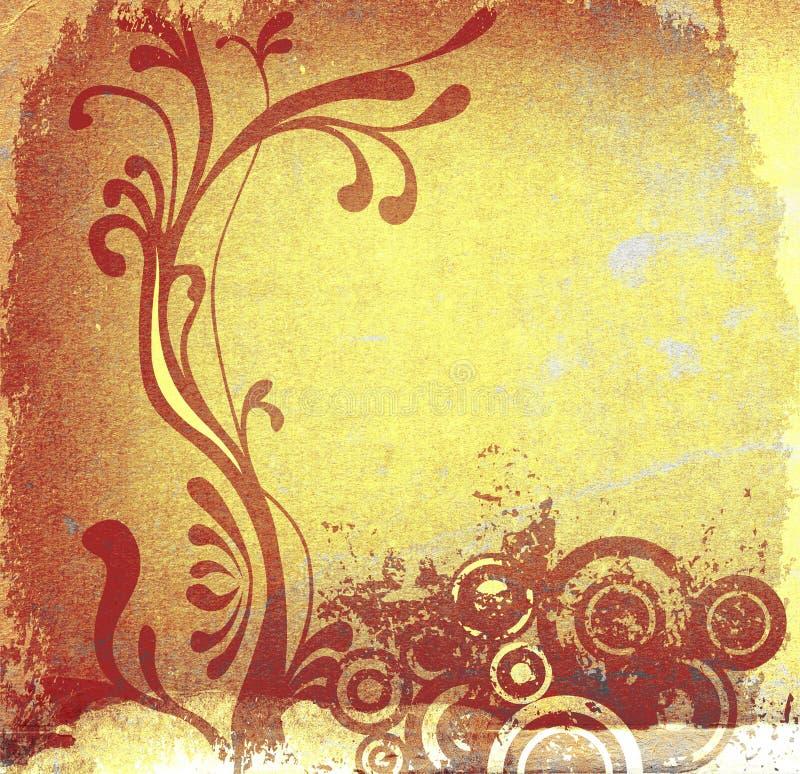 Fondo floral decorativo stock de ilustración