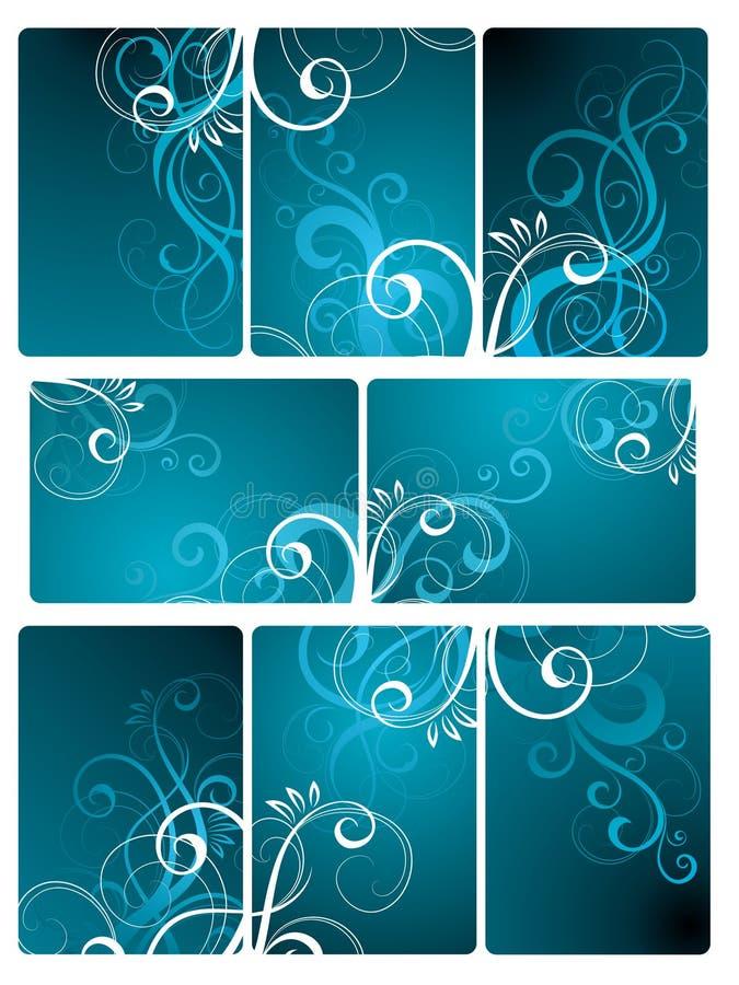 Fondo floral del azulejo stock de ilustración