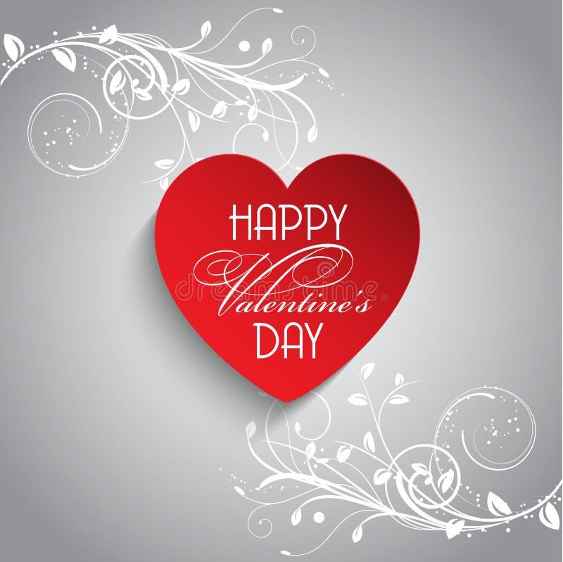 Fondo floral del día de tarjeta del día de San Valentín ilustración del vector