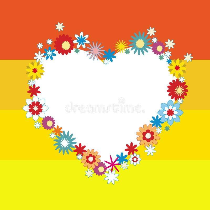 Fondo floral del día de tarjetas del día de San Valentín con el corazón. libre illustration