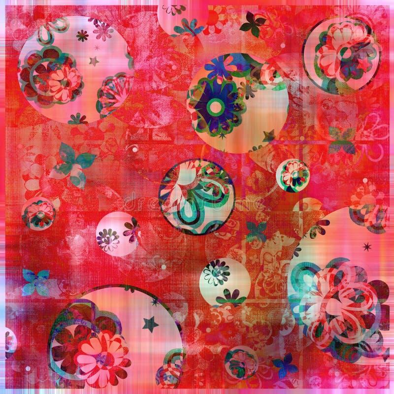 Fondo floral del estilo gitano bohemio foto de archivo