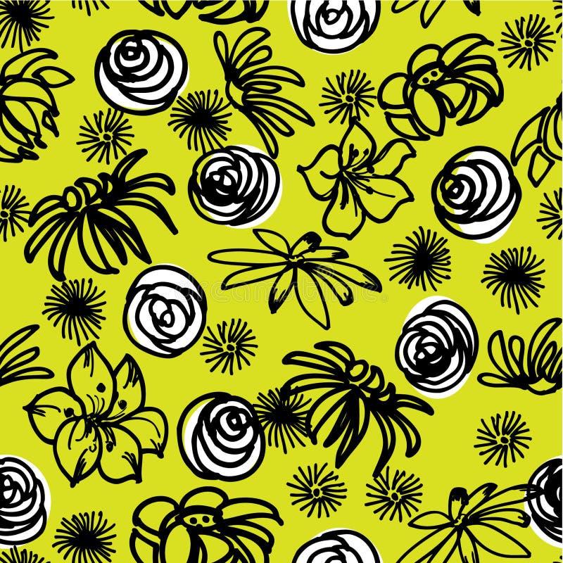 Fondo floral del gráfico del gráfico del arte stock de ilustración