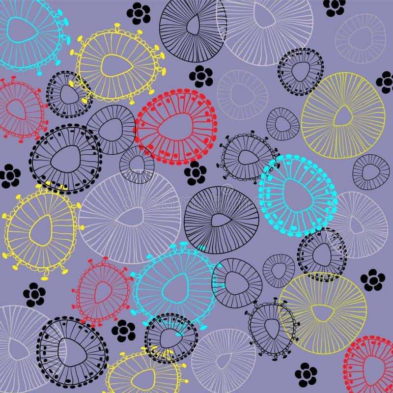 Fondo floral del gráfico del gráfico del arte ilustración del vector