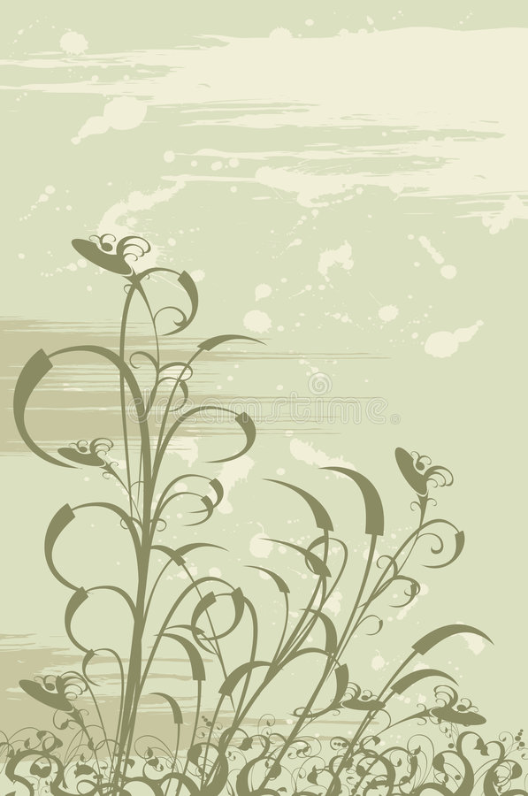 Download Fondo floral del grunge ilustración del vector. Ilustración de ilustraciones - 1277870