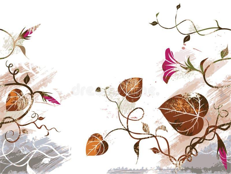 Fondo floral del Grunge imagen de archivo