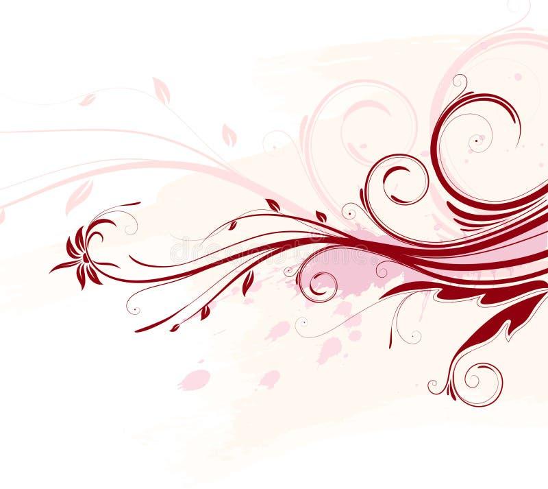 Fondo floral del Grunge ilustración del vector